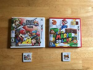 Nintendo 3DS games (Super Smash + Super Mario 3D Land)