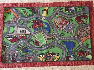 kids car road carpet