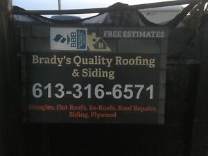 BRADY'S Quality roofing & siding fair prices