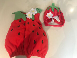 Strawberry costume 6-12m Halloween