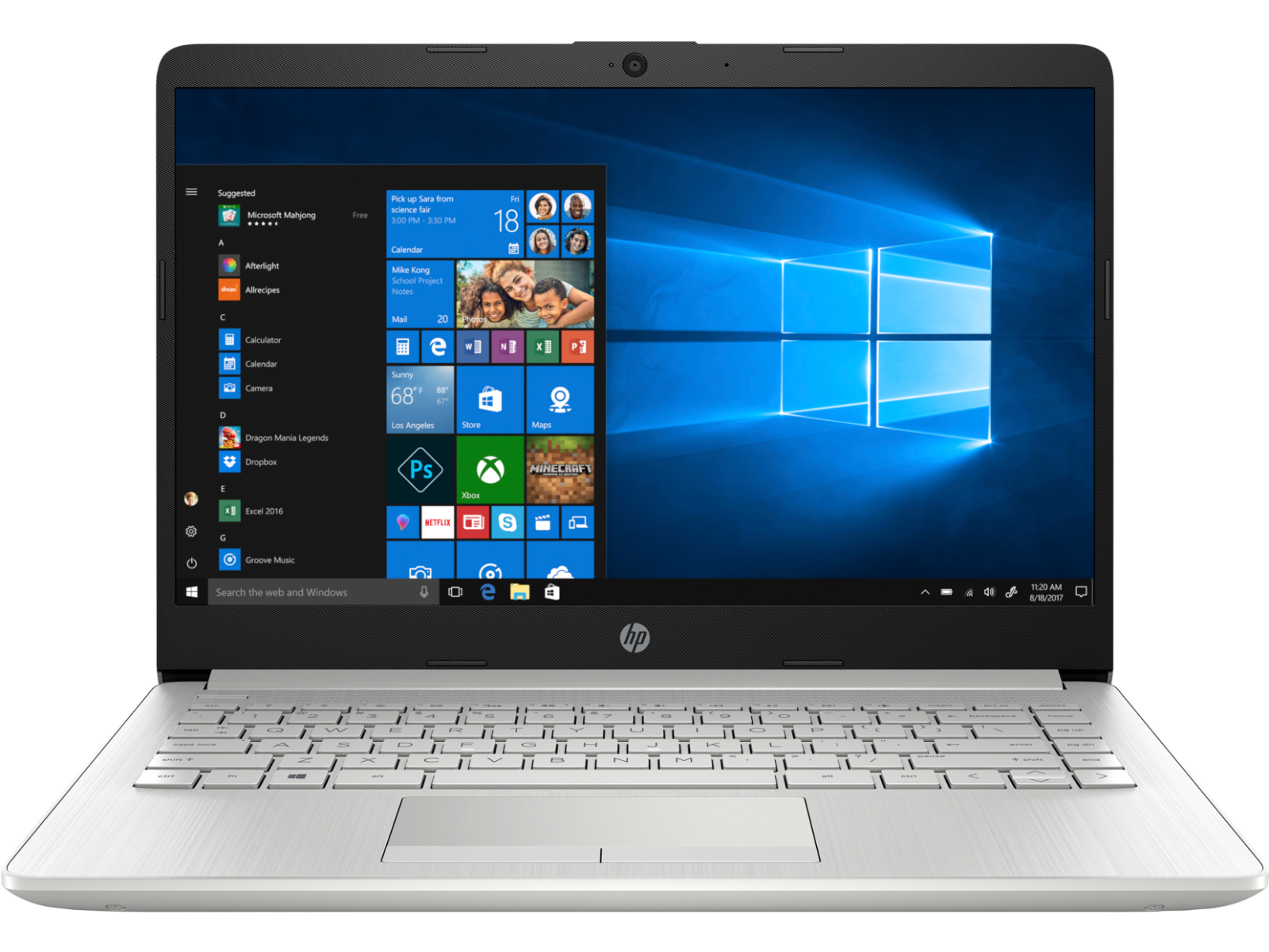 "HP 14"" Ryzen 3 4GB/1TB Laptop-Silver (Google Classroom Compatible)"