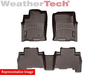 WeatherTech Custom Floor Mat FloorLiner for GX460/4Runner - 1st/2nd Row - Cocoa - Custom Floor Runners