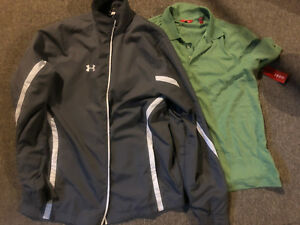 Men's golf shirt and jacket new Izod under armour M L