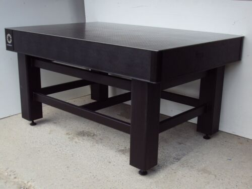 crated COHERENT TMC OPTICAL TABLE w/ ADJUSTABLE RIGID LEG BENCH breadboard