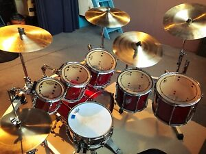 Pearl All Maple Shells Drum kit + Drum Rack Complet