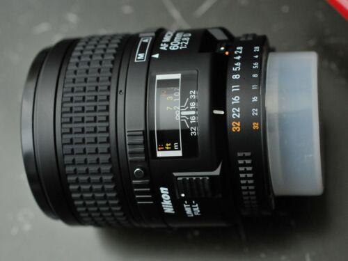 Nikon AF Micro-NIKKOR 60mm f/2.8D Macro Lens for Select Nikon Cameras Black 1987