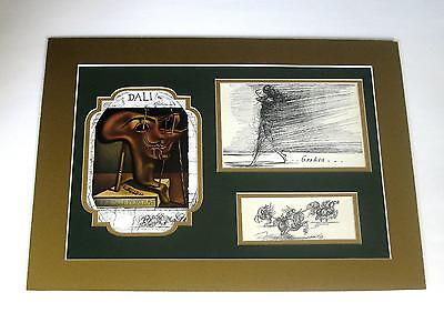3 Salvador Dali vintage 76 years old rare horse art in one 12x16 collage mat