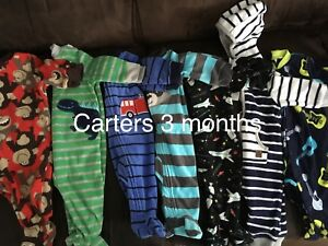 Baby boy fleece sleeper lot - great for a fall baby!
