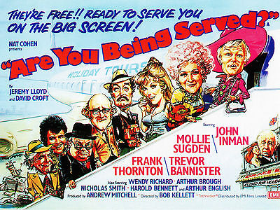 "Are you being served 1977 16"" x 12"" Reproduction Movie Poster Photograph"