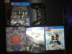 PS4 joystick and games