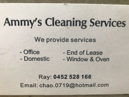 Amy's cleaning service (Cammeray area )