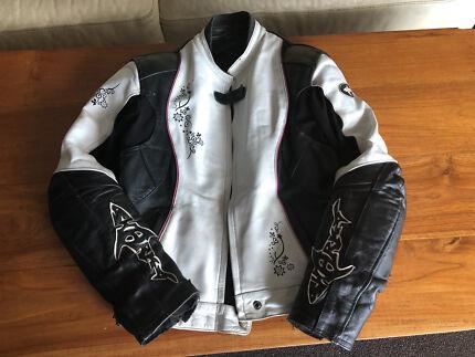 Ladies Leather Motorbike Jacket - size 16 Broadbeach Gold Coast City Preview