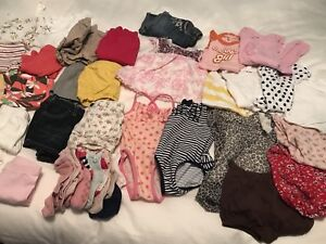 Lot of girls summer clothes. Size 6-12M. Over 40 items.
