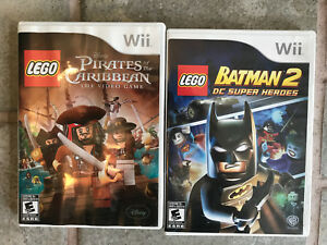 Lego Pirates of Caribbean and Lego Batman 2. Wii works on Wii U
