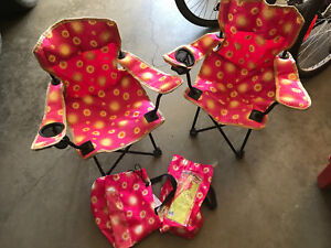 2 Coleman kids camping chairs