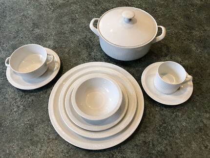 Azberg Athena White Dinner Set (12 Places u0026 Soup Tureen) German Made & german tea set in Whitehorse Area VIC | Dinnerware | Gumtree ...