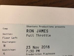 Ron James tickets at Fredericton Playhouse