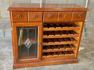 Wooden solid wine storage cabinet great condition !