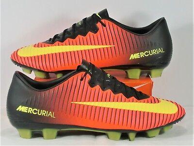 2a005708872a Nike Mercurial Vapor XI HG V ACC Black Soccer Cleats Sz 9 NEW 831959 870  RARE