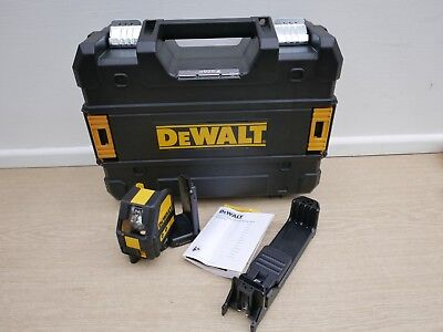 DEWALT DCE088 10.8V XR GREEN CROSS LINE LASER BARE UNIT + BRACKET & TSTAK CASE