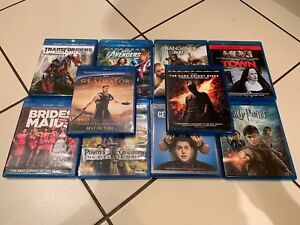 Lot of 10 Blue Ray Movies gladiator Harry Potter bridesmaid