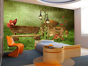 Fairy garden wall mural photo wallpaper giant wall decor for Fairy garden mural