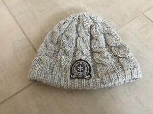 Toddler boy winter knit hat.