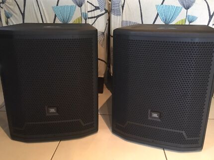 """Wanted: 2 x JBL PRX715XLF 15"""" 1500W Powered Subwoofers with Covers"""