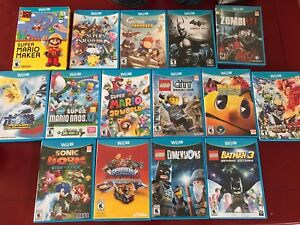 Nintendo Wii U games for sale!
