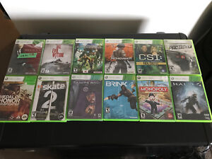 Xbox 360 games (12 games total)