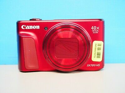 Canon PowerShot SX720 HS Digital Camera HD 1080p 20.3MP - Red (745735)
