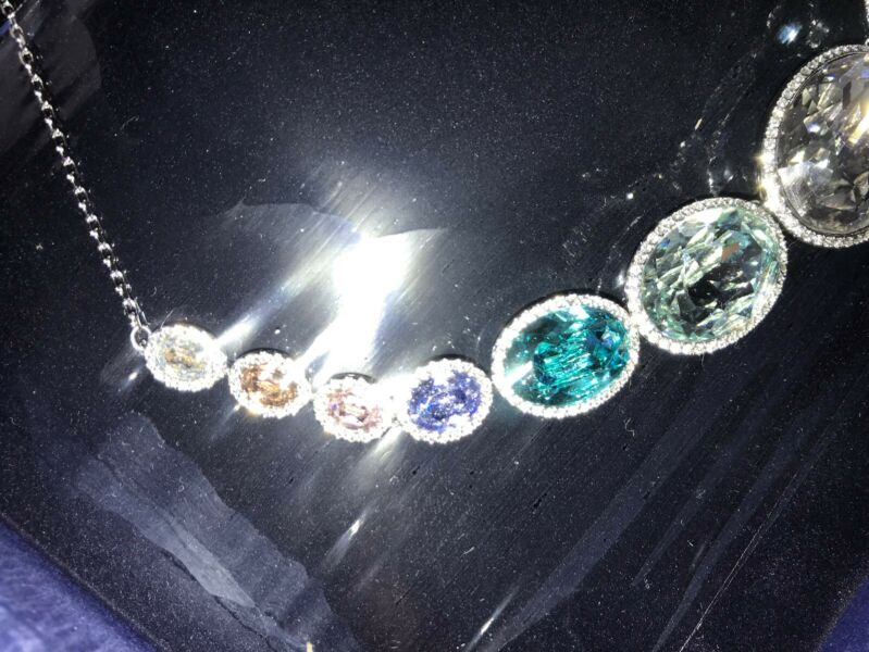 f56c68fe40159 Swarovski Necklace Stunning Colours. 5117706. Brand New $249 USD ...