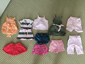 10 Items! Baby Girl Size 4-6 Months Summer Clothes