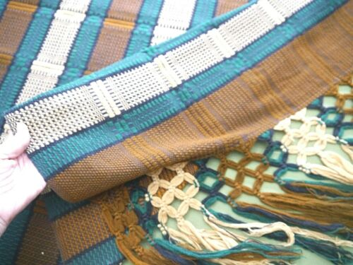 "Antique Swedish Scandinavian Hand Woven Wool Table Runner Vintage, 29"" x 86"
