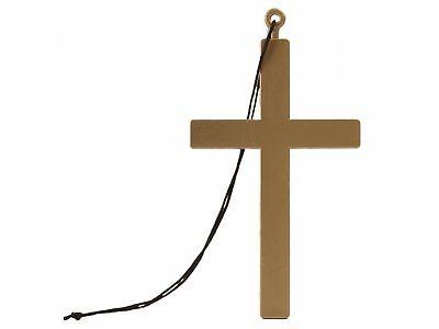Kostüm Priester Nonne Halskette m. Kordel Karneval Kreuz-Kette Anhänger - Priester Nonne Kostüm
