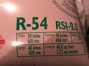 "R54 Owens Corning 24"" attic insulation"