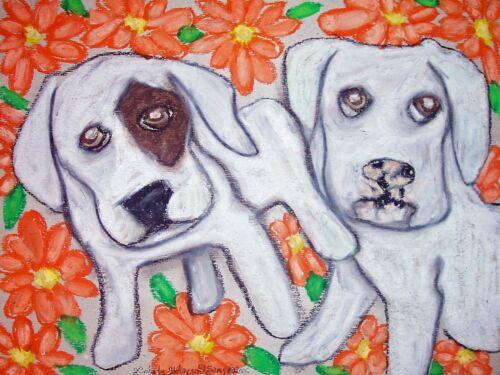 American Bulldog Mums the Word Pop Art Print 8x10 Dog Collectible Signed Artist