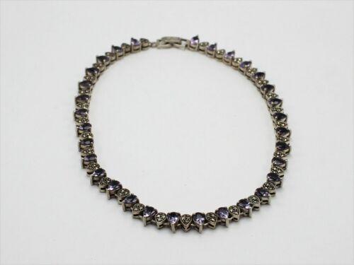 925 Sterling Silver Link Choker Necklace w/Patterned Design