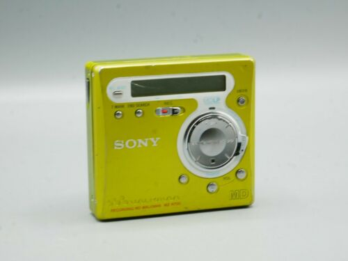 Sony: Minidisc Walkman Player and Recorder - Lime Green