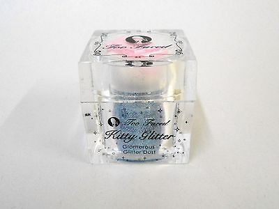 Too Faced Kitty Glitter Body Dust, Iridescent Blue, CAT FIGHT, Full Sized