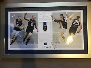 Brendan Fevola signed numbered official Carlton Coleman medal print