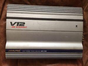 Older model car audio amps: Alpine V12 & Rockford Punch40.2