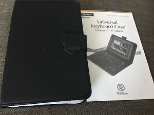 """$7-Bluetooth keyboard with 7"""" tablets case"""