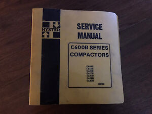 Hyster C600B series service manual