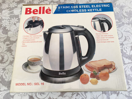 Belle Stainless Steel Electric Cordless Kettle