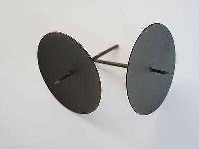 ick Adventskranzstecker schwarz aus Metall 6/7,5/10/12 cm (Advent Kerzenhalter)