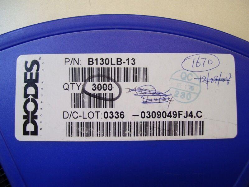 Diodes Inc. B130LB-13 Rectifier Diode Schottky 50 PCS