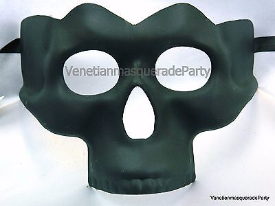 Masquerade Skull Mask Bronze Black White Costume Prom Burlesque Halloween Party - Black And White Halloween Party