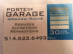 Réparation de portes de garage