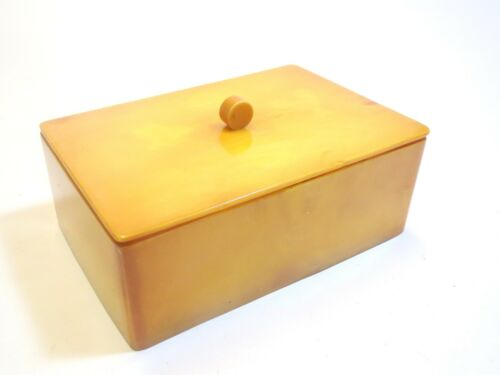 Yellow Art Deco Bakelite Box